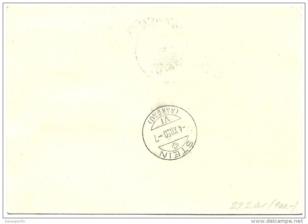 700 - TdB Karte Mit Seltener ABART - Flugpost Doppelprägung - Variétés