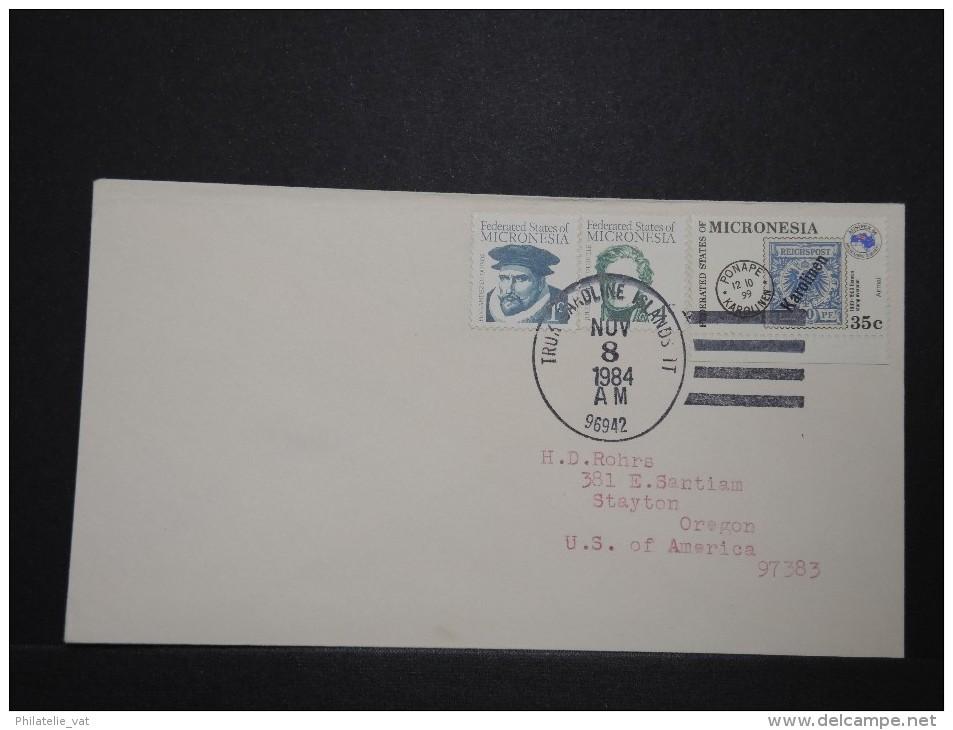 MICRONESIE - Enveloppe Pour Les Etats Unis - Rare - Lot P14315 - Micronésie