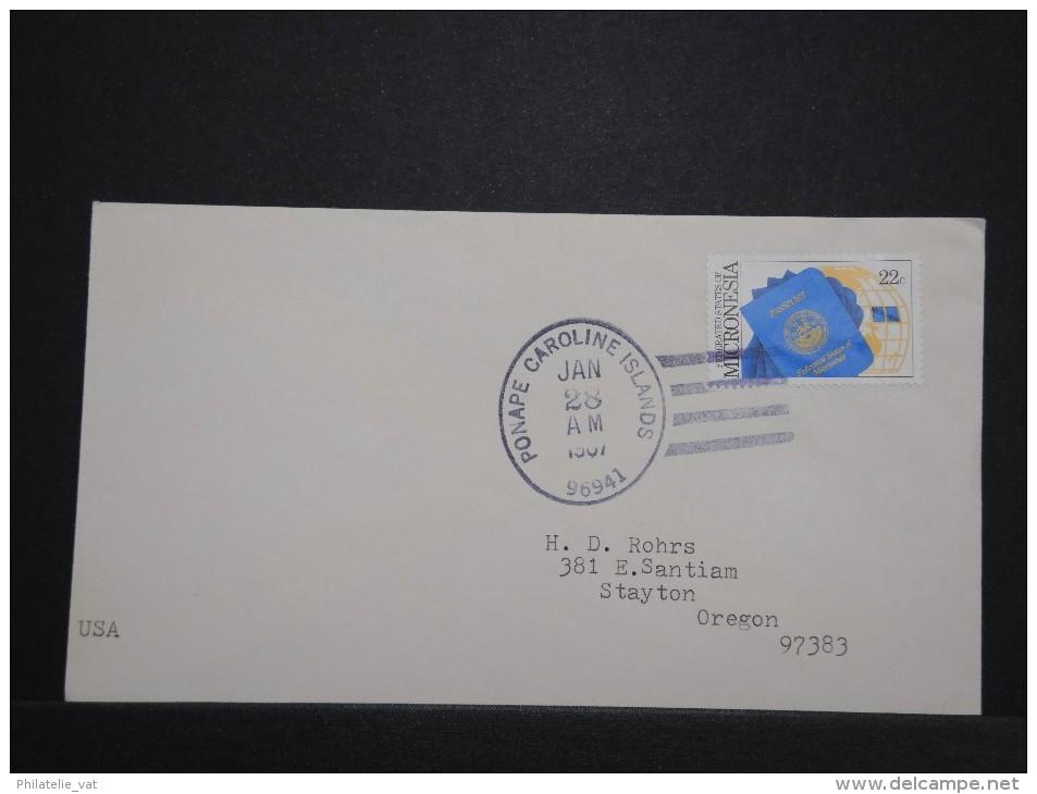 MICRONESIE - Enveloppe Pour Les Etats Unis - Rare - Lot P14317 - Micronésie
