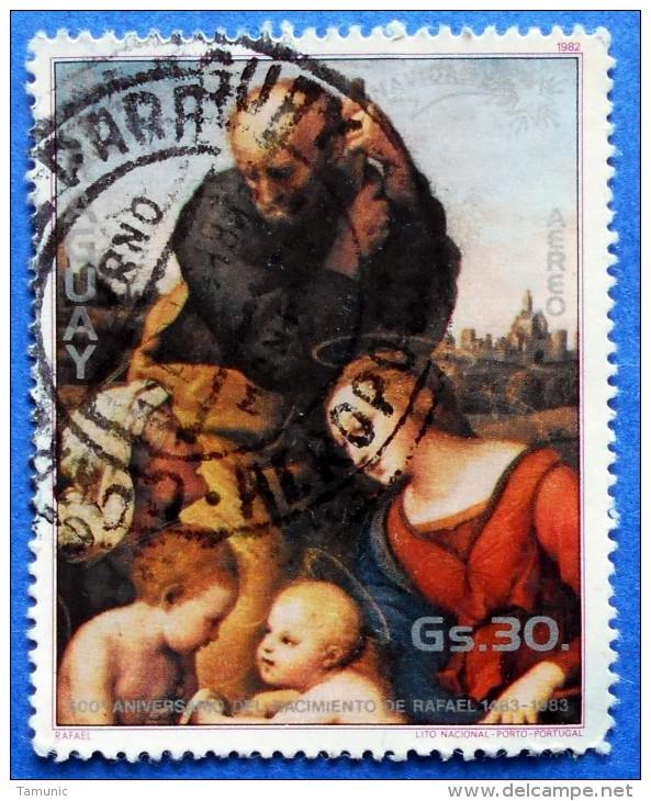 PARAGUAY 30 Gs 1982 ART BIRTH OF RAFAEL - USED - Paraguay