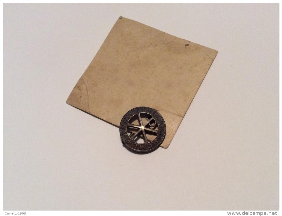 Spilla Votiva Anno Giubilare 1950 Su Cartoncino Del 1950 - Other