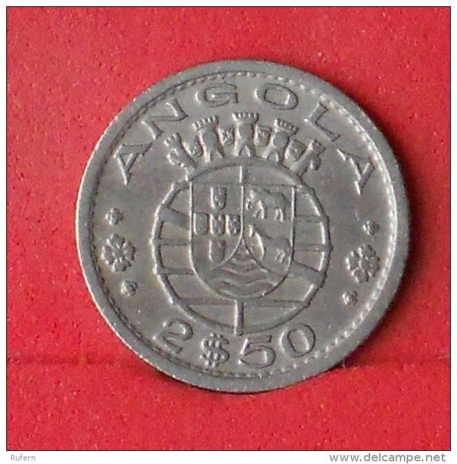 ANGOLA  2,5  ESCUDOS  1956   KM# 77  -    (Nº13230) - Angola