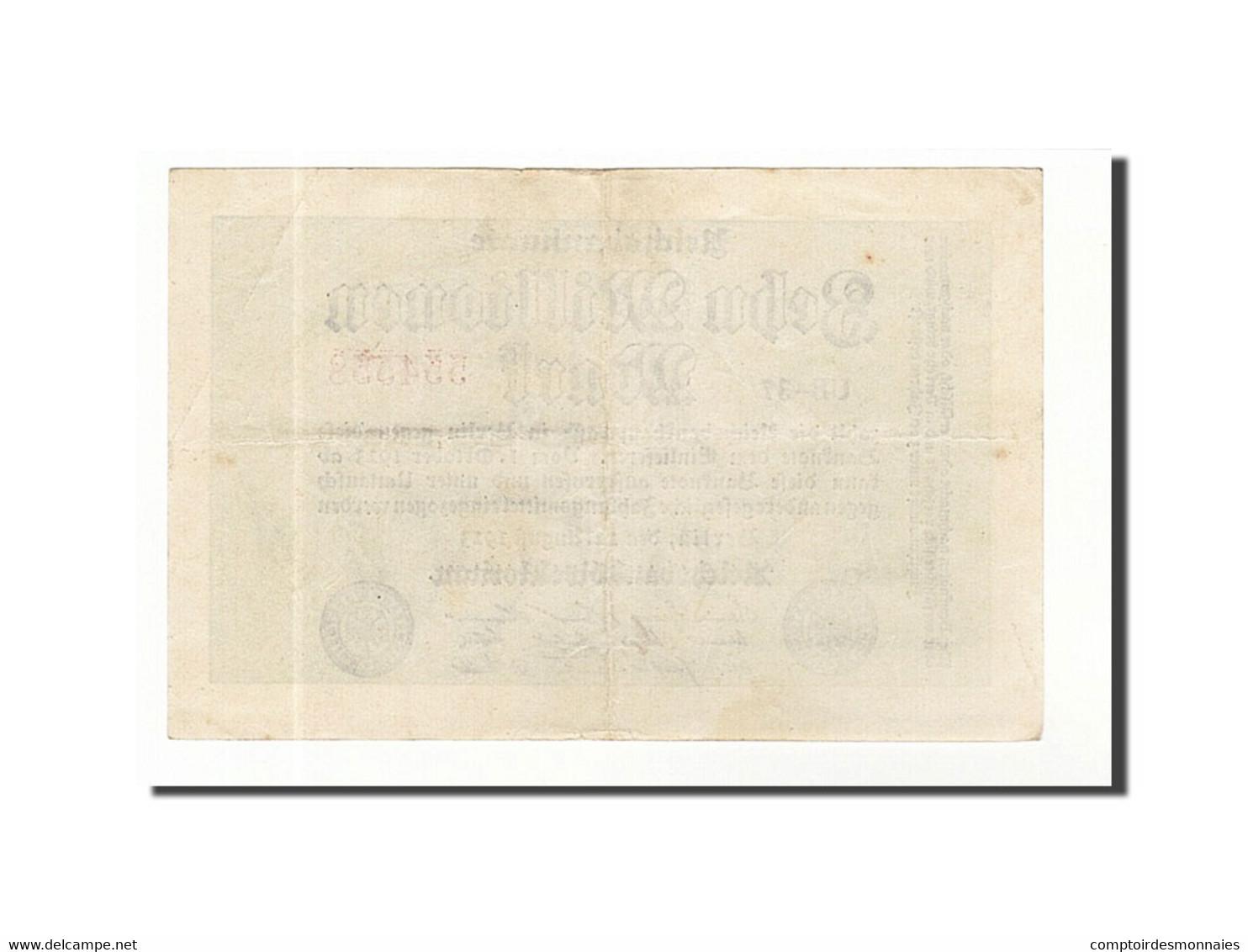 Allemagne, 10 Millionen Mark, 1923, KM:106a, 1923-08-22, TTB+ - [ 3] 1918-1933 : Weimar Republic