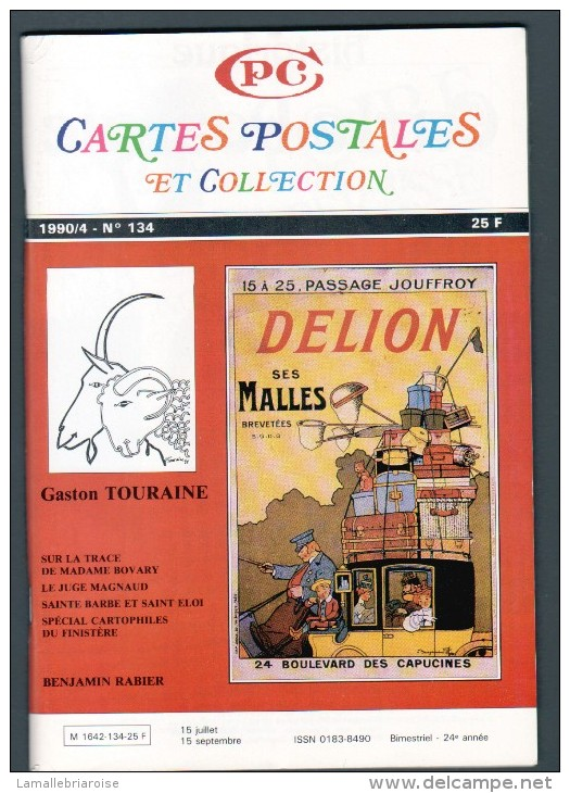 REVUE: CARTES POSTALES ET COLLECTION, N°134, 1990/4 - Français