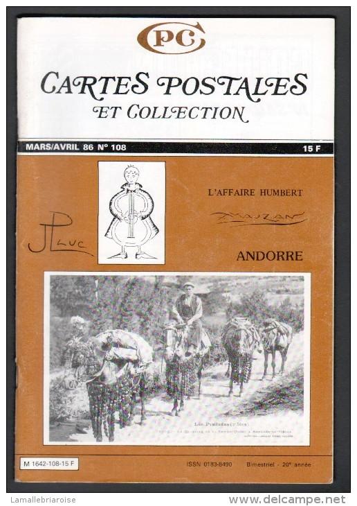 REVUE: CARTES POSTALES ET COLLECTION, N°108, MARS AVRIL 1986, ANDORRE - Français