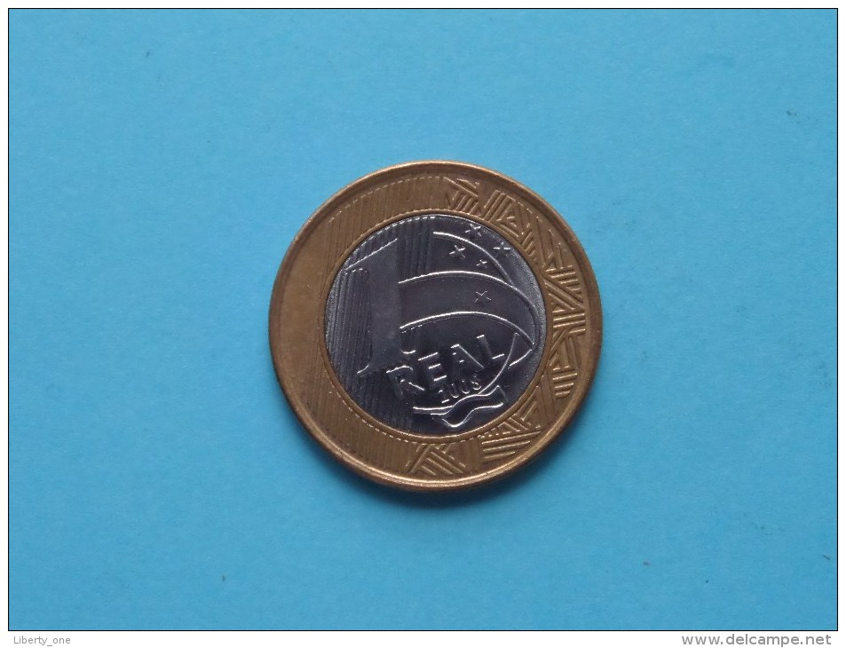 2008 - 1 Real / KM 652a ( Uncleaned Coin - For Grade, Please See Photo ) !! - Brazil