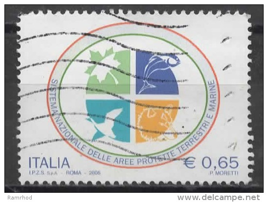 ITALY 2006 National System Of Environment Protection - 65c Emblem   FU - 6. 1946-.. Repubblica