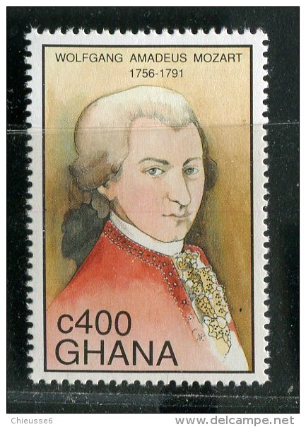 Ghana **  N° 1419 - Bi-centenaire De La Mort De Mozart - Ghana (1957-...)