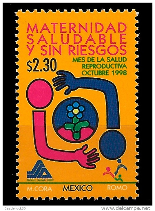 E)1988 MEXICO,HEALTHY AND SAFE MOTHERHOOD, REPRODUCTIVE HEALTH MONTH, PREGNANCY, MOM, SON, MNH - Mexico