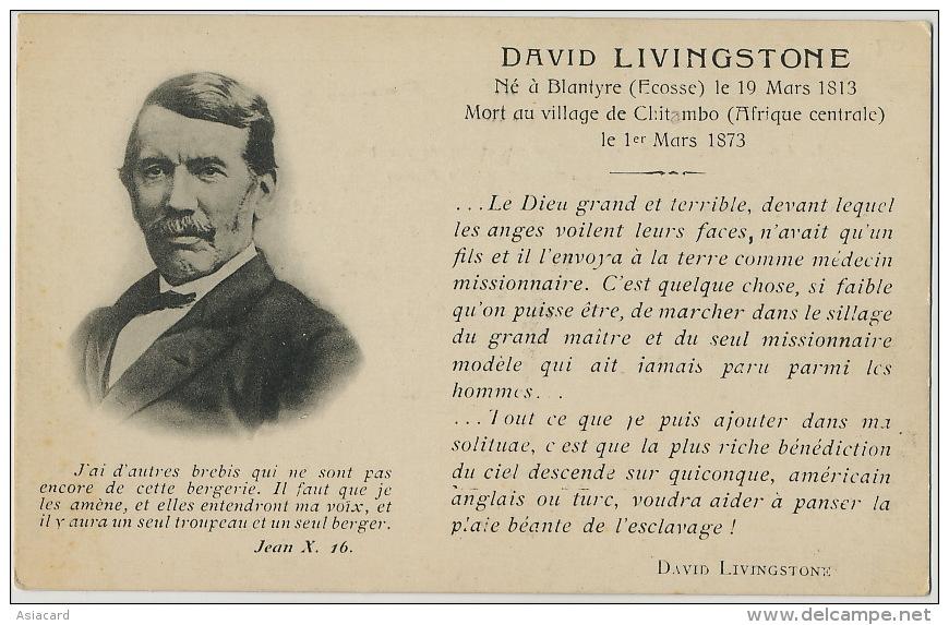 David Livingstone Born In Blantyre Scotland Dead In Chitambo Anti Slavery Anti Esclavage Esclavagisme - Zambia