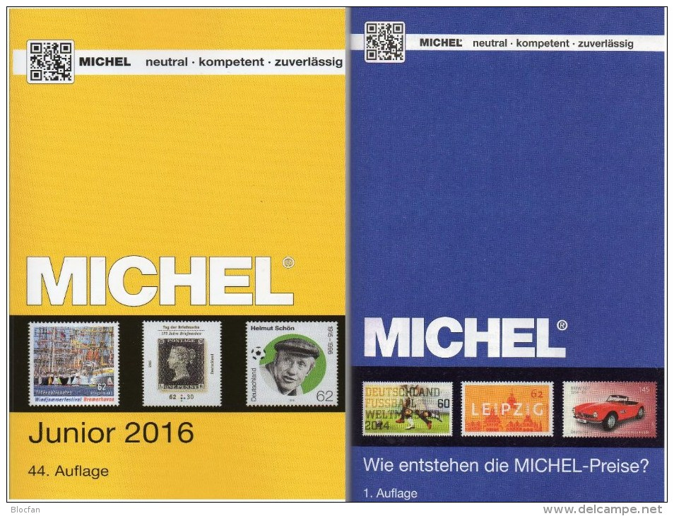 Stamp Catalogue Germany MlCHEL Junior 2016 New 10€ With AD DR III.Reich Danzig Saar Berlin SBZ DDR BRD 978-3-95402-136-9 - Other Collections