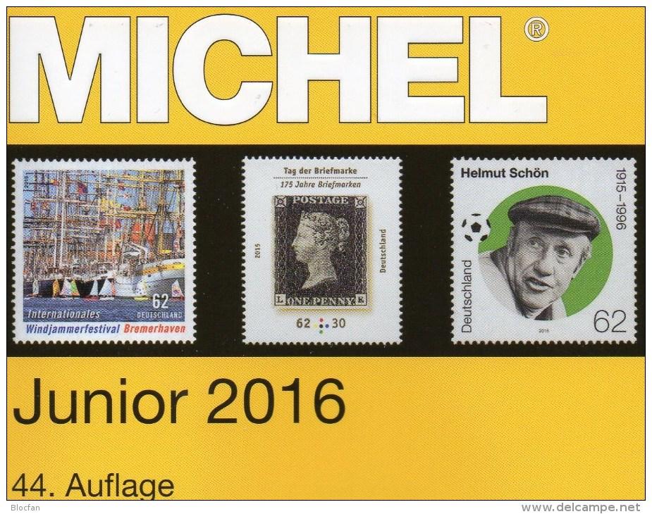 Stamp Catalogue Germany MlCHEL Junior 2016 New 10€ With AD DR III.Reich Danzig Saar Berlin SBZ DDR BRD 978-3-95402-136-9 - Other