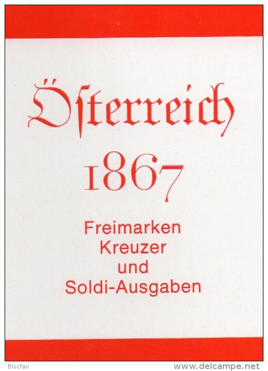 Austria 1867 Handbook First Set Österreich Antiqu.180€ Classik Freimarke Kreuzer/Soldi-Ausgaben Special Catalogue Stamps - Olandese