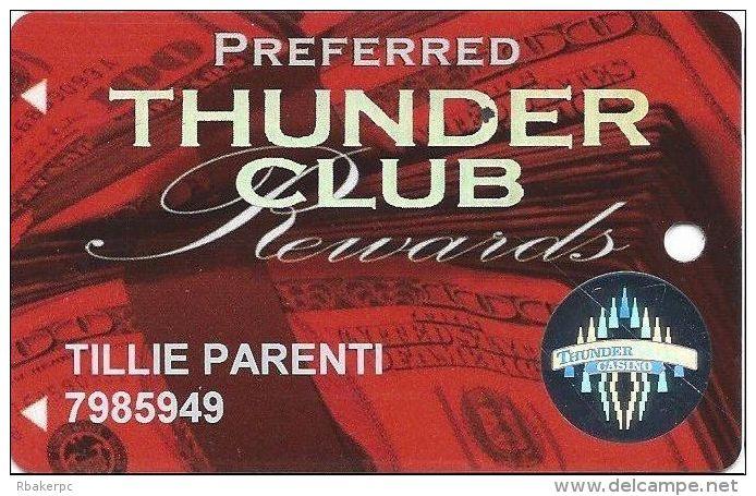 Thunder Valley Casino Lincoln CA - Preferred Thunder Club Rewards @2007 Slot Card - Casino Cards