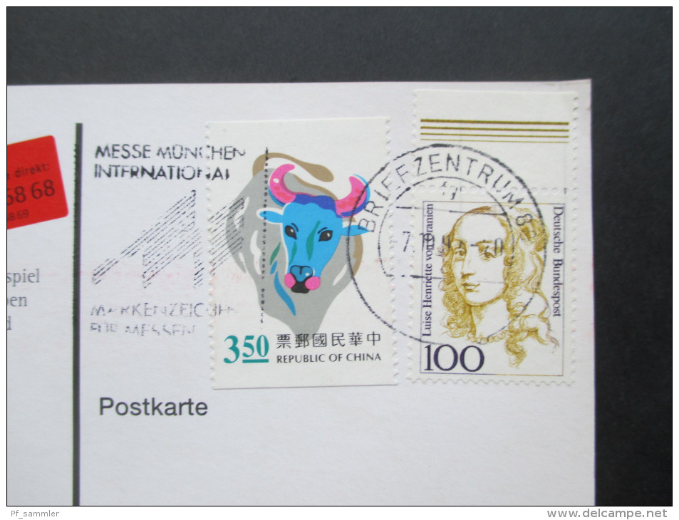 AK / Postcards China 1970er - 90er. Bildpostkarten / Ganzsachen 17 Stück. Interessante Frankaturen!! - Ansichtskarten