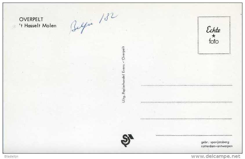 OVERPELT (Limburg) - Molen/moulin - Historische Prentkaart Van Molen ´t Hasselt Of Molen Leyssen Omstreeks 1960 - Overpelt