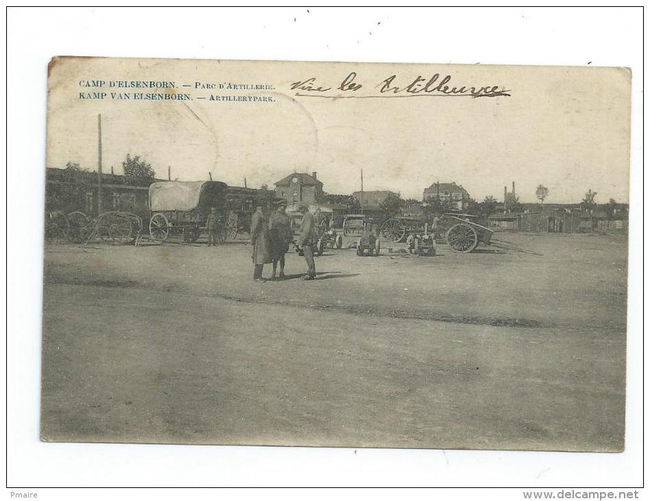 CPA Belgique Liege Camp D' Elsenborn Parc D' Artillerie 1920 Cachet Militaire Belge - Elsenborn (camp)