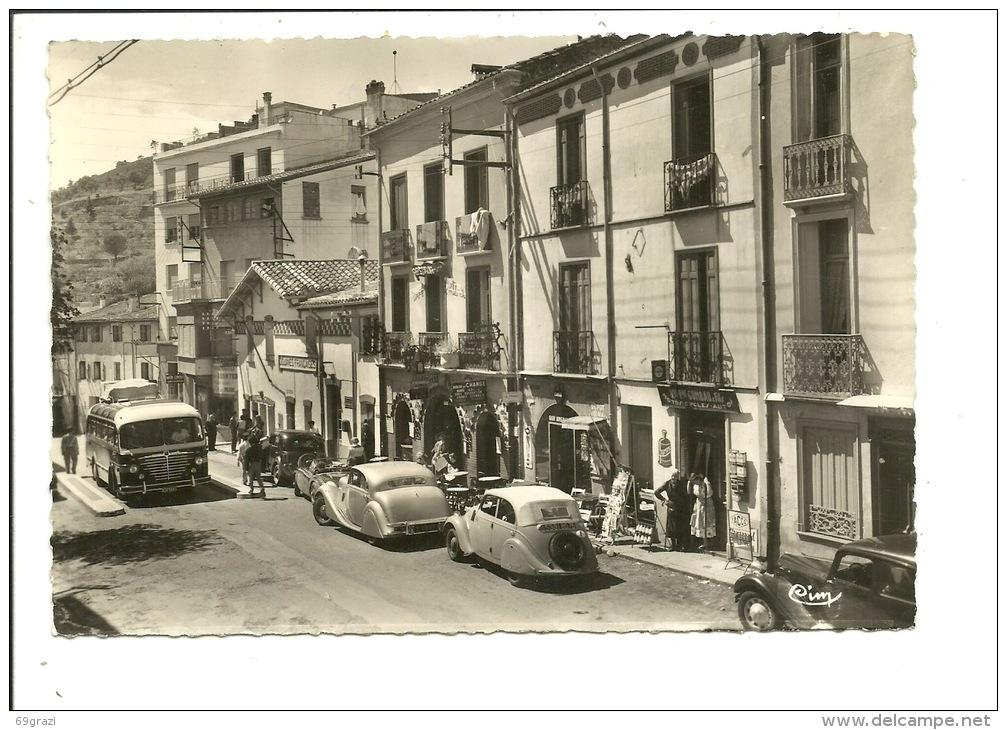 Le Perthus - La Douane Et L'Hostellerie Philippe V Et Route D'Espagne ( Old Timer Autobus ) - Francia