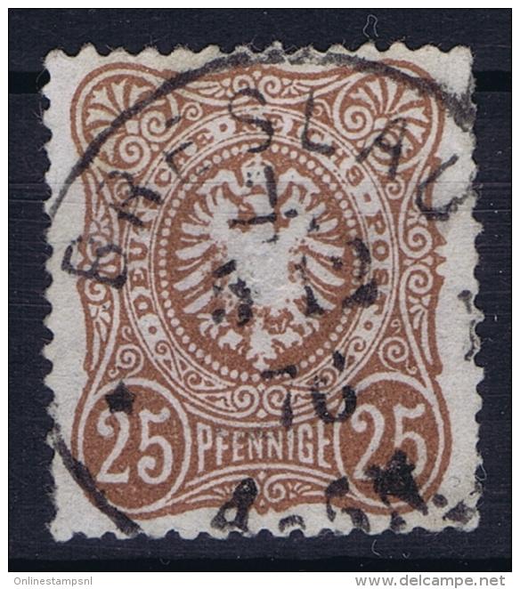 Deutsches Reich: Mi Nr 35 A  Used BPP Signiert /signed/ Signé Zenker - Deutschland