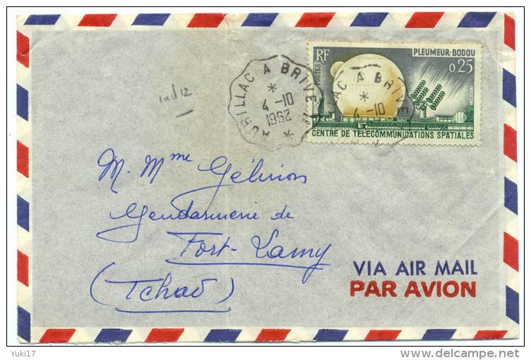 CACHET CONVOYEUR AURILLAC A BRIVE 1962 - Postmark Collection (Covers)