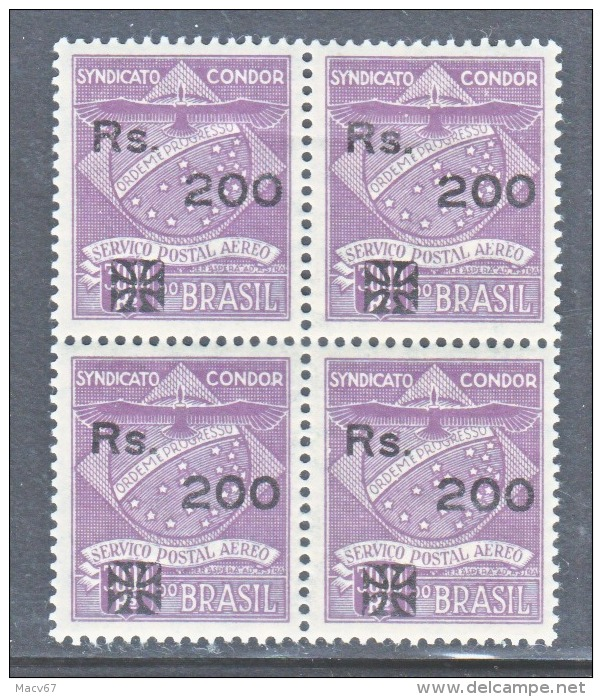 BRAZIL  SYNDICATO  CONDOR  1 CL 11  X 4    ** - Airmail (Private Companies)