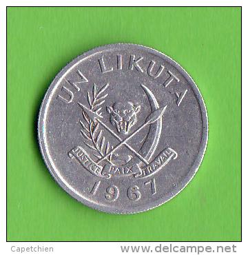 CONGO / 1 LIKUTA / 1967 /   - BEL ETAT - Congo (Republic 1960)
