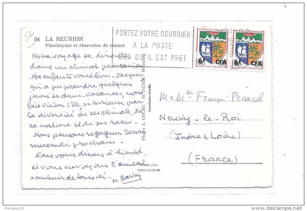 LA REUNION : Flamboyant Et Charrettes De Cannes, - Autres