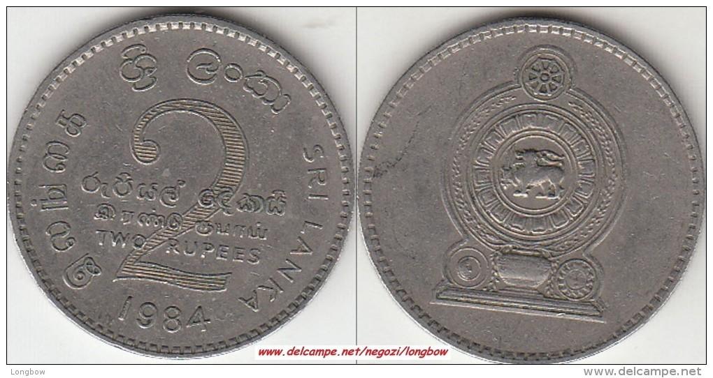 SRI LANKA 2 Rupees 1984 KM#147 - Used - Sri Lanka