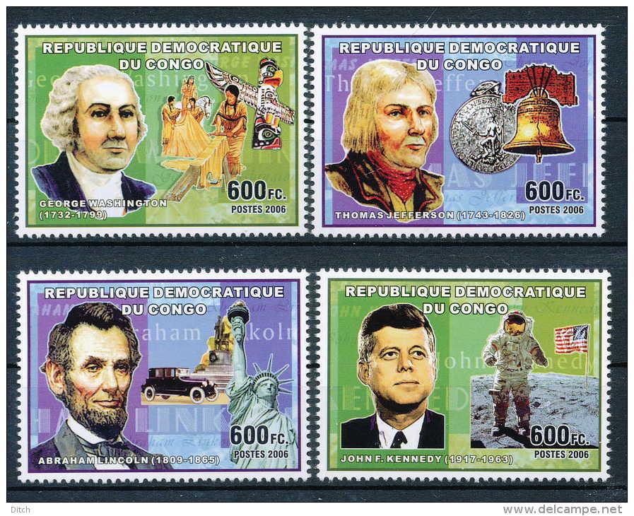 D- N°2307/10, Célébrités Du Monde - Les Présidents Américains. - Democratic Republic Of Congo (1997 - ...)