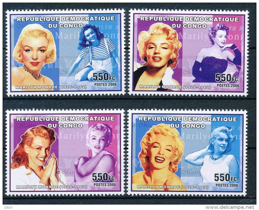 D- N°2426/29, Célébrités Du Monde - Marilyn Monroe. - Democratic Republic Of Congo (1997 - ...)