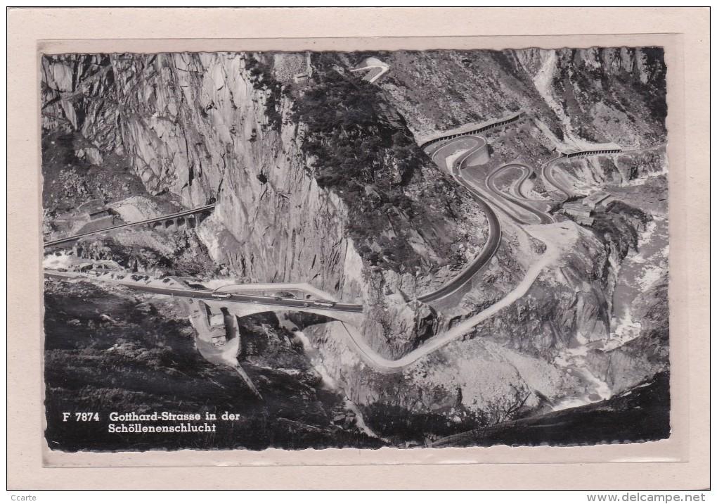SUISSE - URI - CPSM - Gotthard-Strasse In Der Schöllenenschlucht - UR Uri