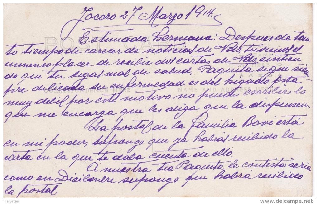 POSTAL DE EL SALVADOR DE LA MINA DE ORO EL HORMIGUERO DEL AÑO 1914 (FOTO AMANO P.B.) - El Salvador