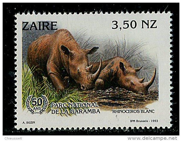(cl. 3 - P.43) Zaïre ** N° 1398 (ref. Michel Au Dos) - Rhinocéros Blancs - - Zaïre