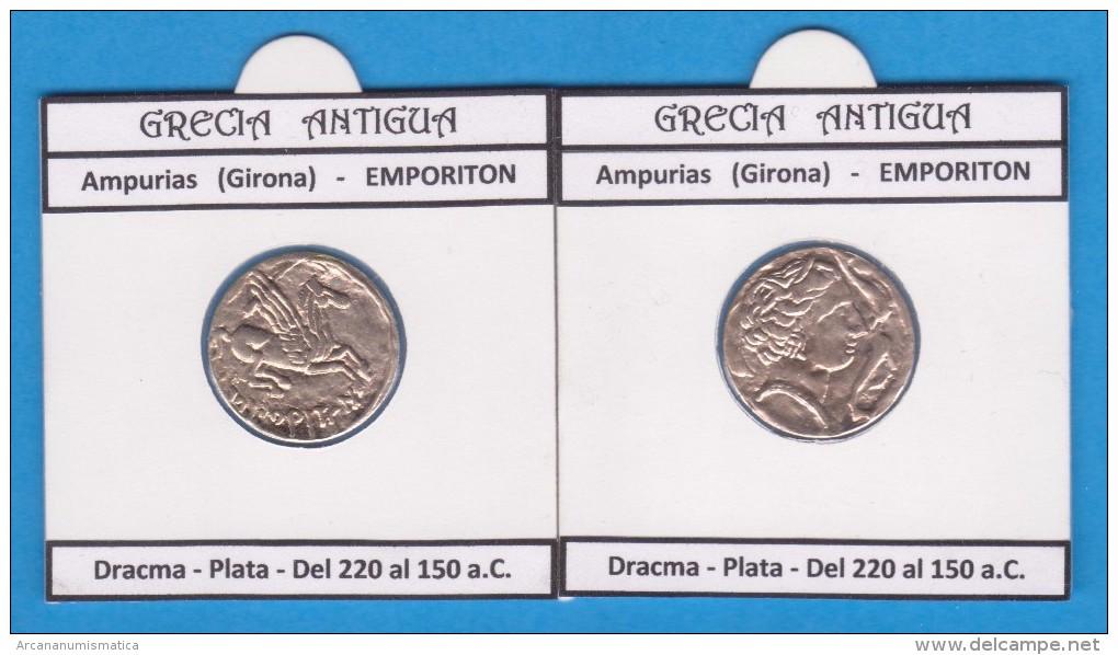 GRECIA ANTIGUA  AMPURIAS  (GIRONA)  EMPORITON  DRACMA Réplica En Plata SC/UNC  Réplica  T-DL-11.434 - Griegas