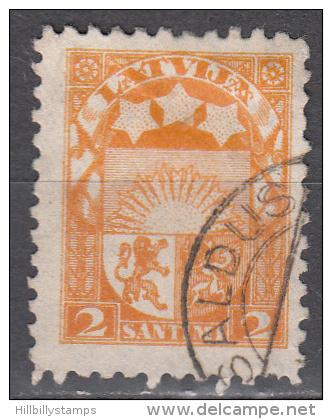 Latvia    Scott No.  114   Used   Year   1923 - Lettland