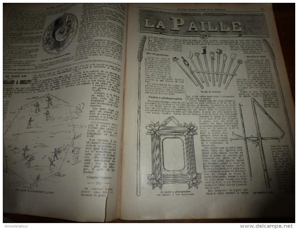 1905 LPJij : BD En Sombre (histoire); Revue Du 14 Juillet; Les 3 OURS; Faire Des JOUETS Avec De La PAILLE; - Newspapers