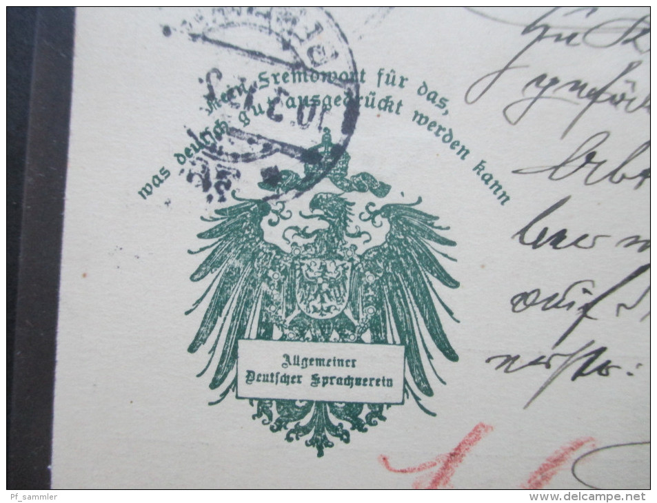Postkarte 1915 Allgemeiner Deutscher Sprachverein. Schöne PK. Richard Bock Berlin W 57 - Covers & Documents