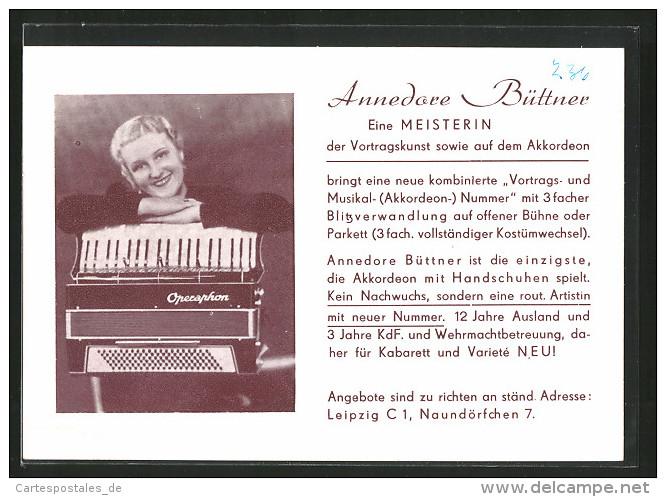 AK Akkordeon-Artistin Annedore Büttner - Musique Et Musiciens
