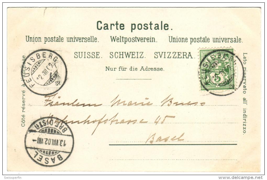 56 - Gruss Aus Feusisgarten - Litho - SZ Schwyz