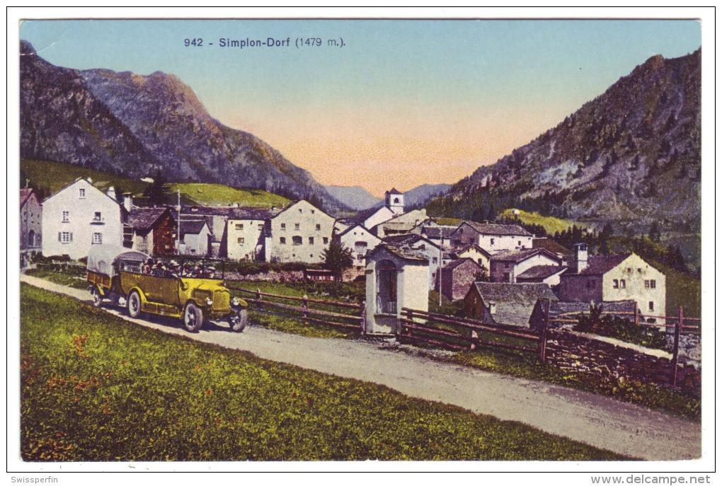 542 - Simplon-Dorf Mit Postauto - Bus & Autocars