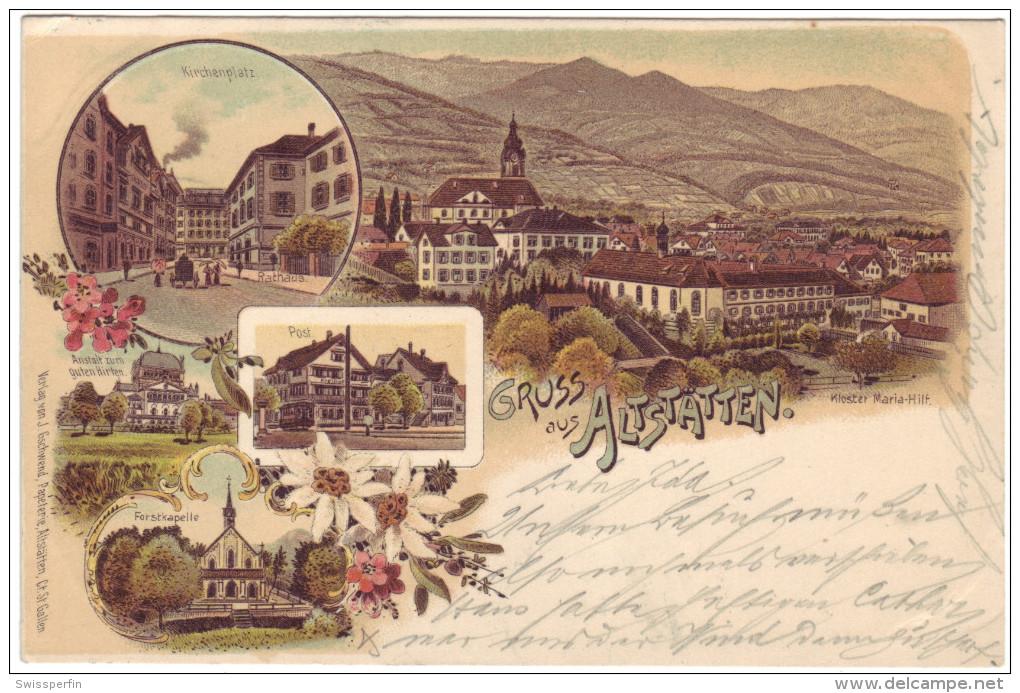530 - Gruss Aus Altstätten - Litho - SG St. Gall