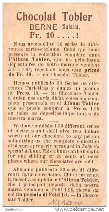 "03396 ""TOBLER'S CHOCOLAT - BERNE - SUISSE - CONTE DE PEAU D'ANE 7 - 12""  FIGURINA. ORIGINALE 1910 CIRCA. - Cioccolato"