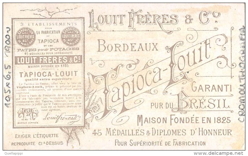 "03405 ""CHOCOLAT LOUIT FRERES & CO-GUERRE DU TRANSWAAL - ATTAQUE D'UN TRAIN BLINDE....18/10/1899"" MILITARI  FIGUR. ORIG. - Cioccolato"