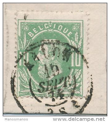 573/23 - Lettre TP 30 TARIF PREFERENTIEL ARLON 1874 Vers LUXEMBOURG - Mention écrite Du Collectionneur N11 - 1869-1883 Léopold II