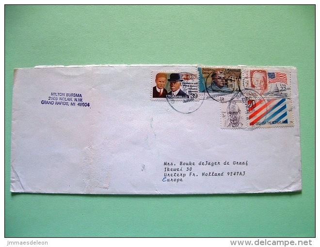 USA 1987 Cover Grand Rapids To Holland - Flag - Netherlands - Stravinsky Music - Junipero Serra - Aviation Pioneers P... - Etats-Unis