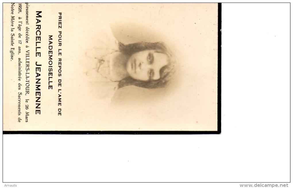 Jeanmenne Marcelle °+Villers La Tour  192817 Ans PHOTO CHIMAY - Décès
