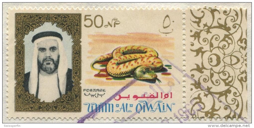 391 - Drucksache Von Umm Al-Qiwain In Die USA - Umm Al-Qiwain