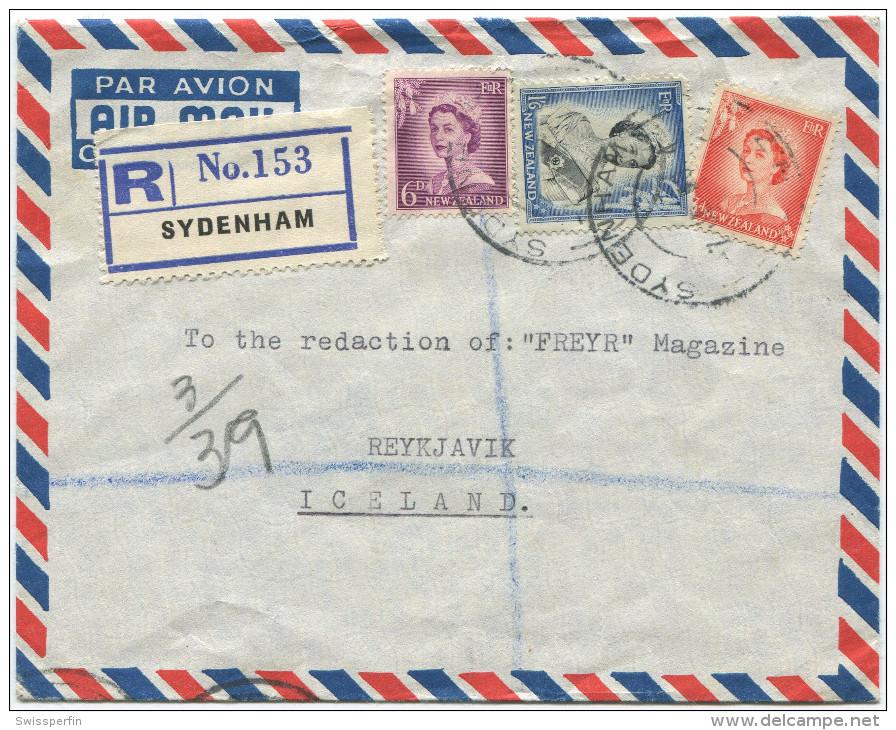395 - Einschreibebrief Von Neuseeland Nach Island - Nouvelle-Zélande