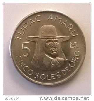 Pérou - 5 Soles De Oro 1977 - - Pérou