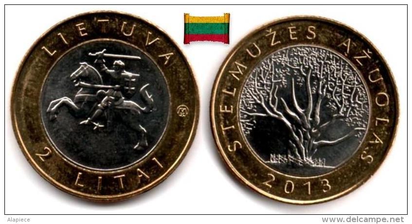 Lituanie - 2 Litai 2013 (Stelmuze Oak) UNC - Lithuania